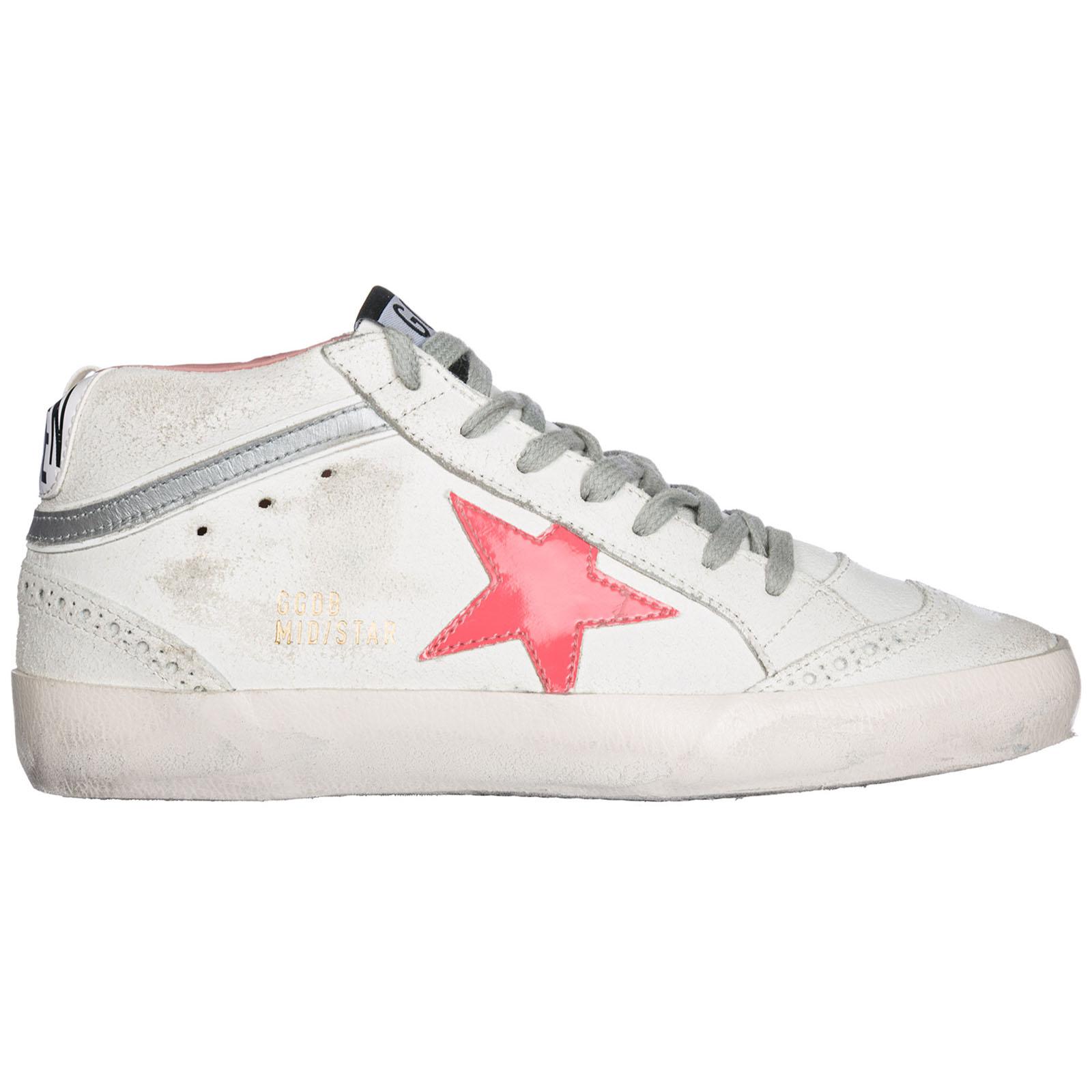 Scarpe sneakers alte donna in camoscio mid star