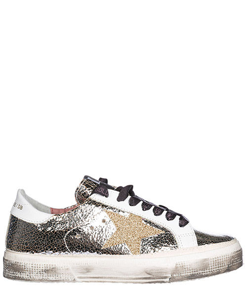 Sneakers Golden Goose G32WS127.I6 silver crash - gold star