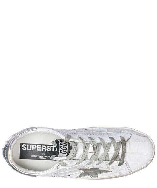 Chaussures baskets sneakers femme en cuir superstar secondary image