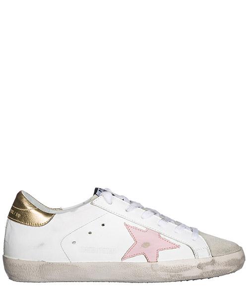 Chaussures baskets sneakers femme en cuir superstar