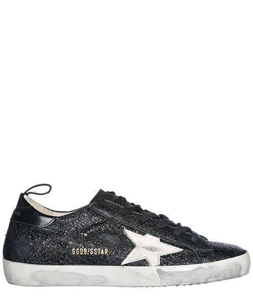 Chaussures baskets sneakers femme en cuir supestar