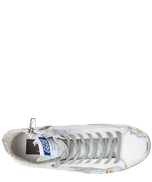 Chaussures baskets sneakers hautes femme en cuir francy secondary image