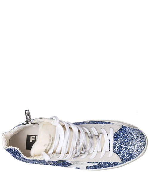 Scarpe sneakers alte donna in pelle francy secondary image
