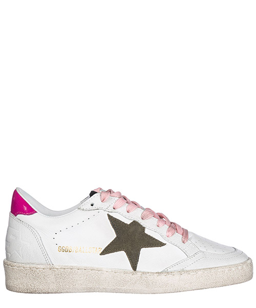 Sneakers Golden Goose G32WS592.G8 white leather / olive star