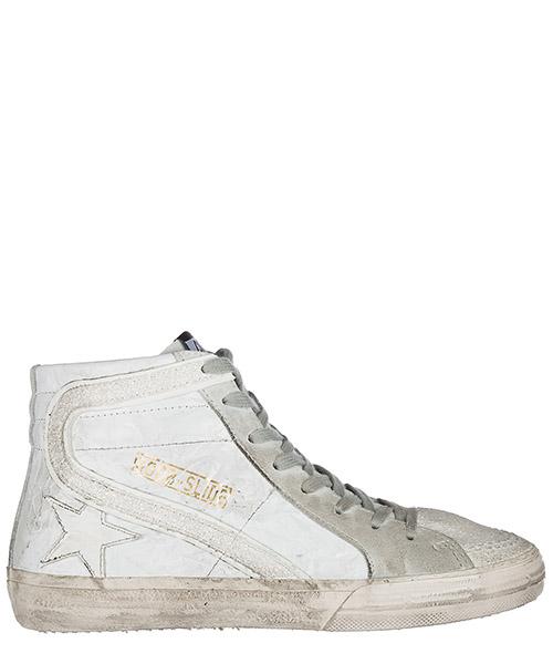Zapatillas altas Golden Goose G32WS595 S5 wrinkled white-glitter