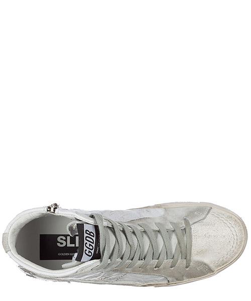 Zapatos zapatillas de deporte largas mujer en piel slide secondary image