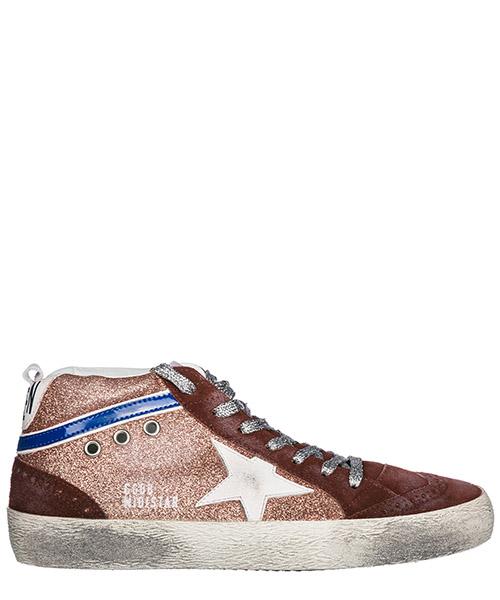 Chaussures baskets sneakers hautes femme en cuir mid star