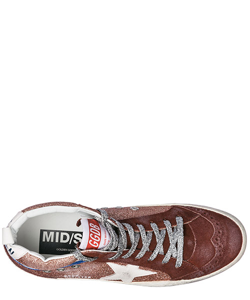 Chaussures baskets sneakers hautes femme en cuir mid star secondary image