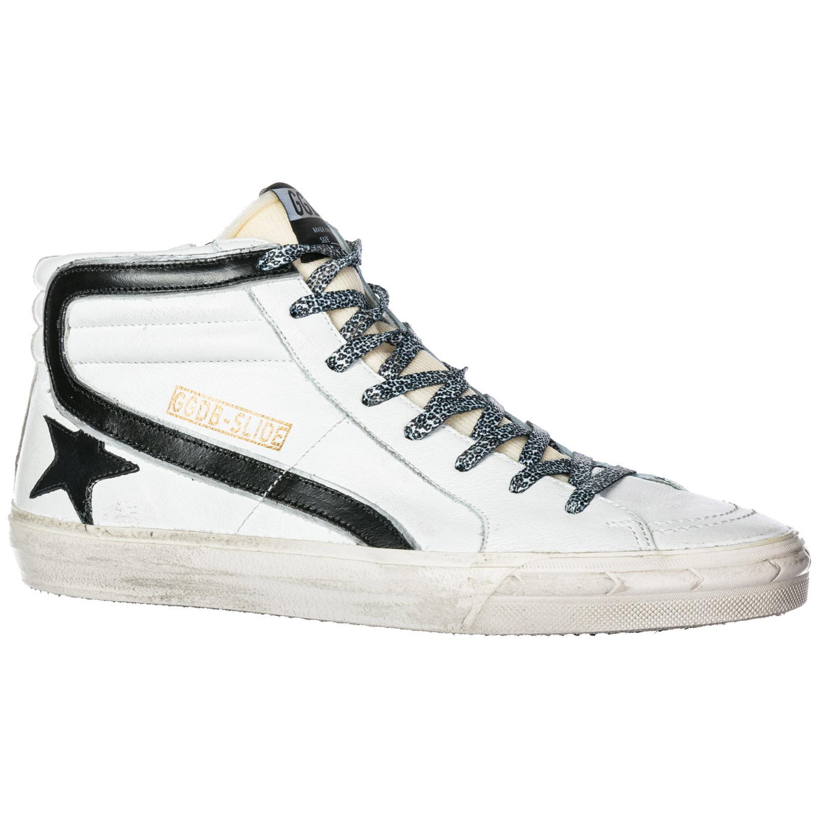 2e85e1c57f93 Высокие кроссовки Golden Goose Slide G33MS595.U5 white leather ...