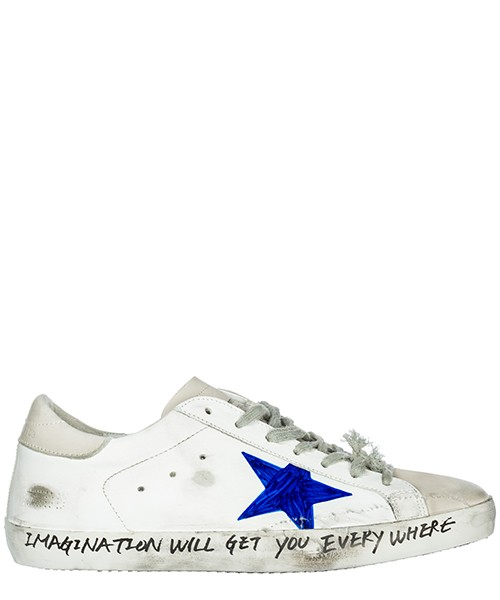 Sneakers Golden Goose Superstar G33MS590.H36 white skate - hand painted star