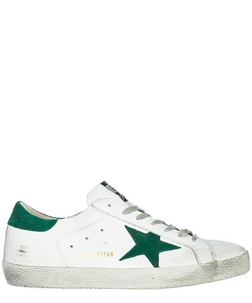 Sneakers Golden Goose Superstar G33MS590.L24 white - green star