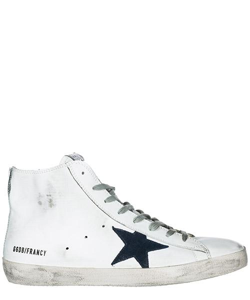 Sneakers alte Golden Goose Francy G33MS591.B39 white - bluette zip