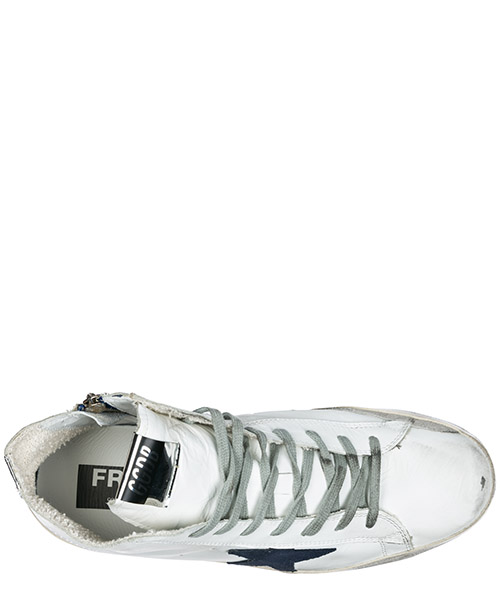 Men's shoes high top leather trainers sneakers francy secondary image
