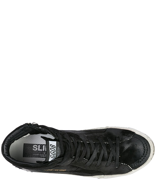 Scarpe sneakers alte uomo in camoscio slide secondary image