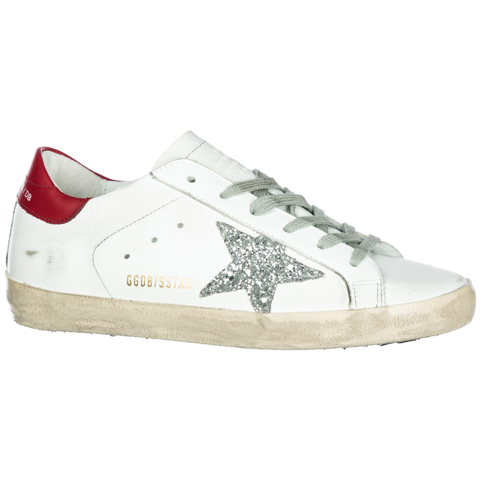 Sneakers Golden Goose Superstar G33WS590.H16 white - red - silver ... fc63c4f749