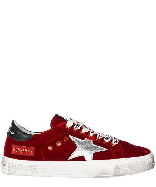 Sneakers Golden Goose May G33WS127.K1 red velvet - silver star