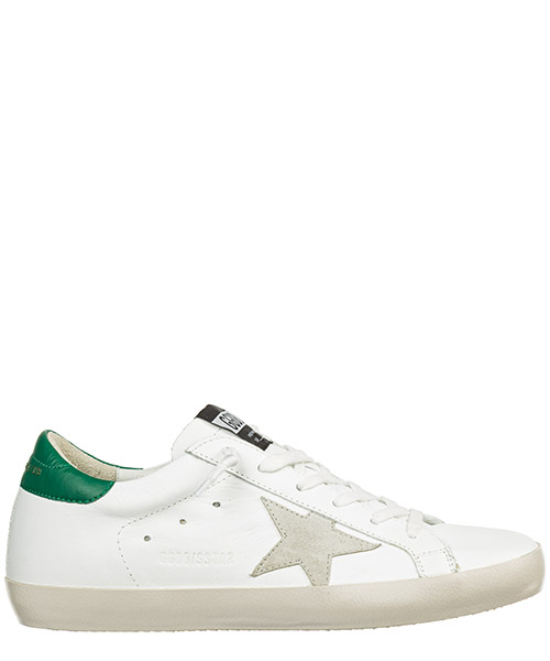 Sneakers Golden Goose superstar g33ws590.g82 white - emerald - gold lettering