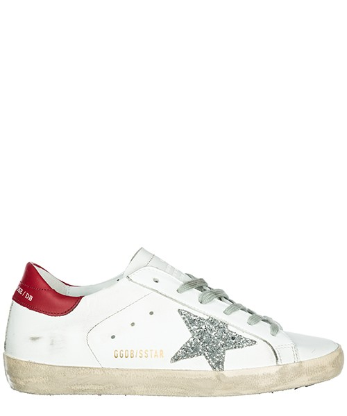 Sneakers alte Golden Goose Superstar G33WS590.H16 white - red - silver glitter
