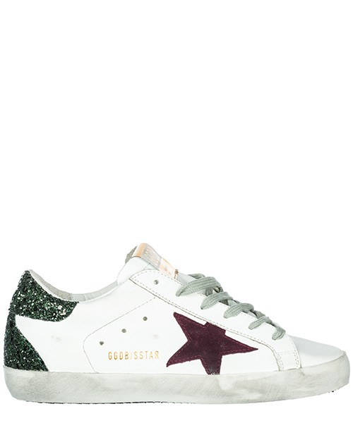 Sneakers Golden Goose Superstar G33WS590.H68 white - green glitter