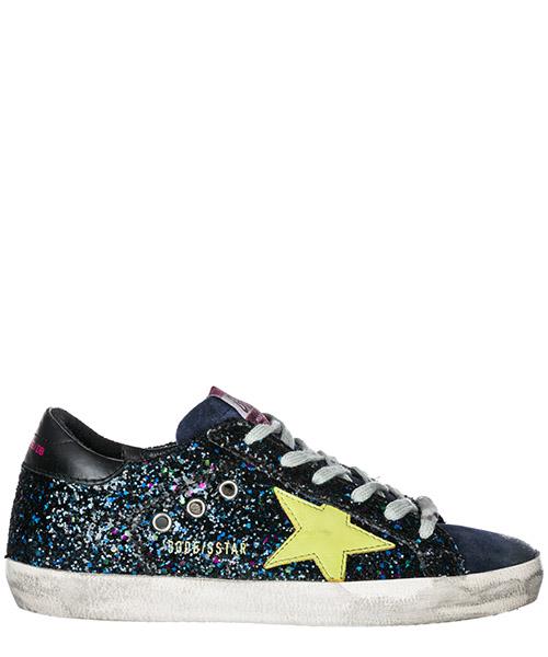 Zapatillas deportivas Golden Goose Superstar G33WS590.L68 disco glitter - green star
