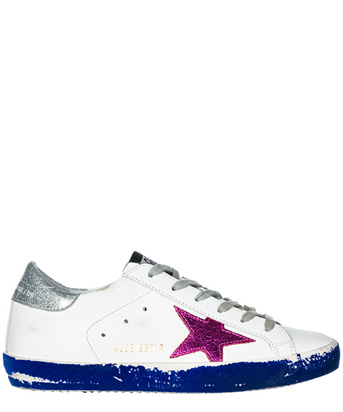 Sneakers Golden Goose Superstar G33WS590.L71 white - fuxia - silver - blue flock