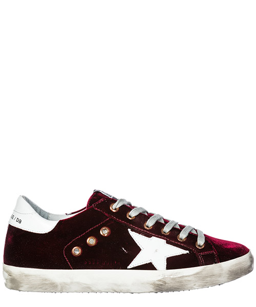 Sneakers Golden Goose Superstar G33WS590.L86 bordeaux velvet - white star