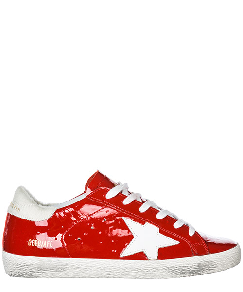 Sneakers Golden Goose Superstar G33WS590.L88 red ostrich - white star