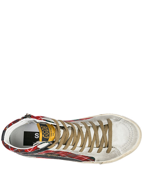 Scarpe sneakers alte donna in camoscio slide secondary image