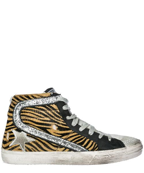 Sneakers alte Golden Goose Slide G33WS595.Z3 coffee zebra - ice star