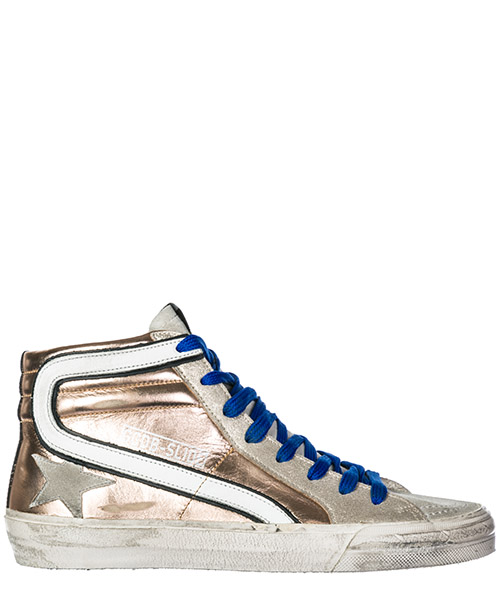 Sneakers alte Golden Goose Slide G33WS595.Z6 pink gold laminated - ice star