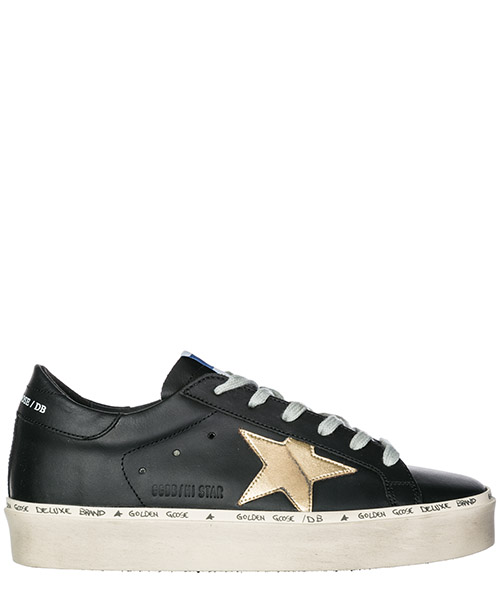 Sneakers Golden Goose Hi Star G33WS945.A6 black - gold star