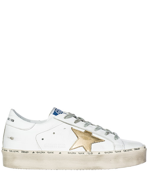 Sneakers Golden Goose Hi Star G33WS945.A7 white - gold star