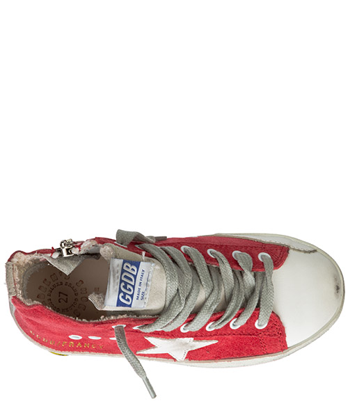 Boys shoes child sneakers high top suede leather francy secondary image