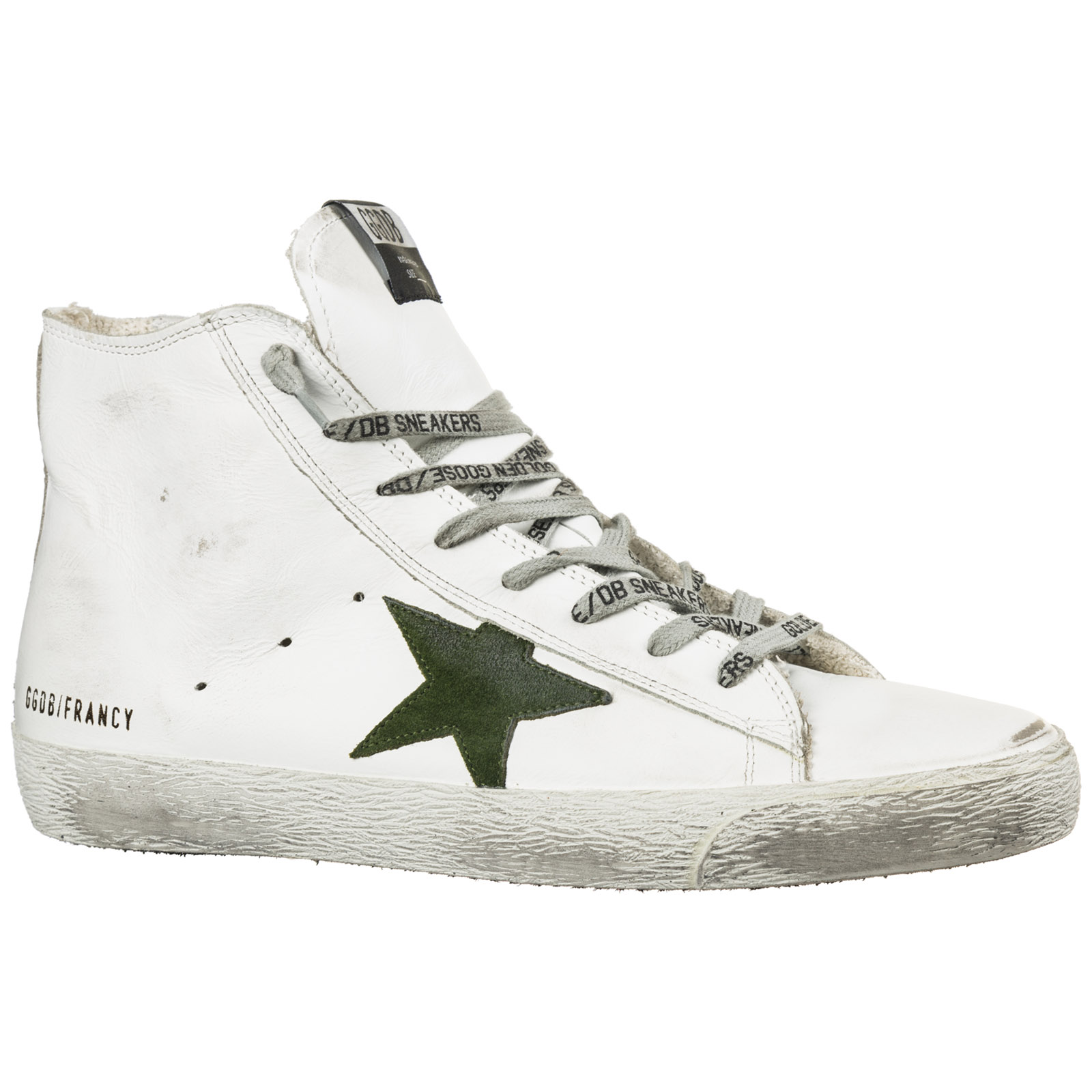 Golden Goose Men s shoes high top leather trainers sneakers francy 4430c4bcc75