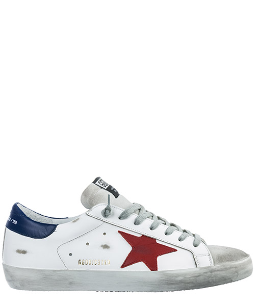 Turnschuhe Golden Goose Superstar G34MS590.N13 white leather - red star