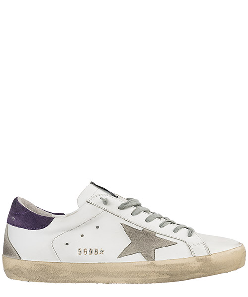 Basket Golden Goose Superstar G34MS590.N27 white leather - plum