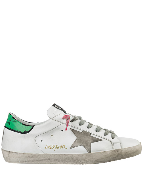 Basket Golden Goose Superstar G34MS590.N40 white - green - orange fluo