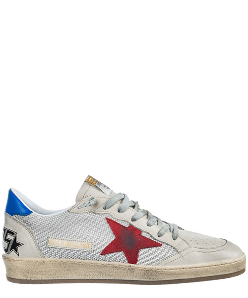 Sneakers Golden Goose Ball Star G34MS592.T2 grey cord gum - red - blue