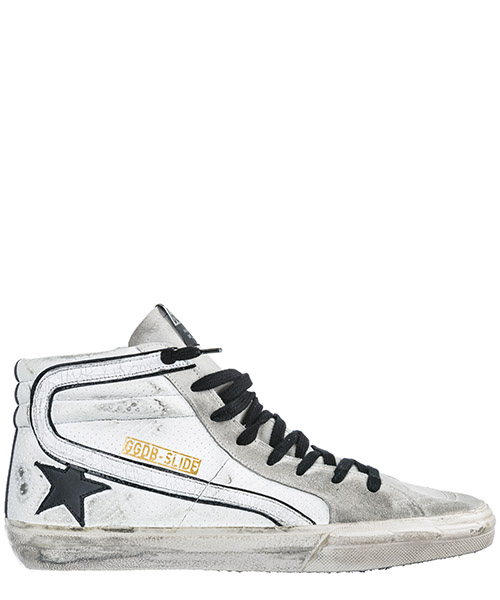 Sneakers Golden Goose Slide G34MS595.A10 bianco