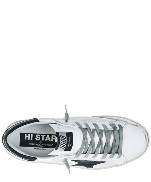 Men's shoes leather trainers sneakers hi star secondary image