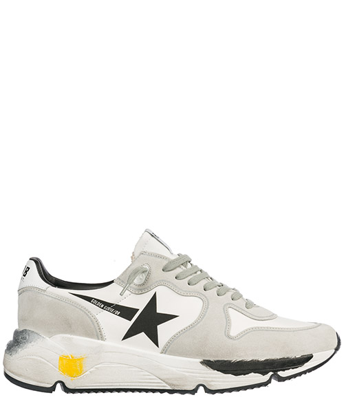 Basket Golden Goose Running Sole G34MS963.A1 white lycra - black star