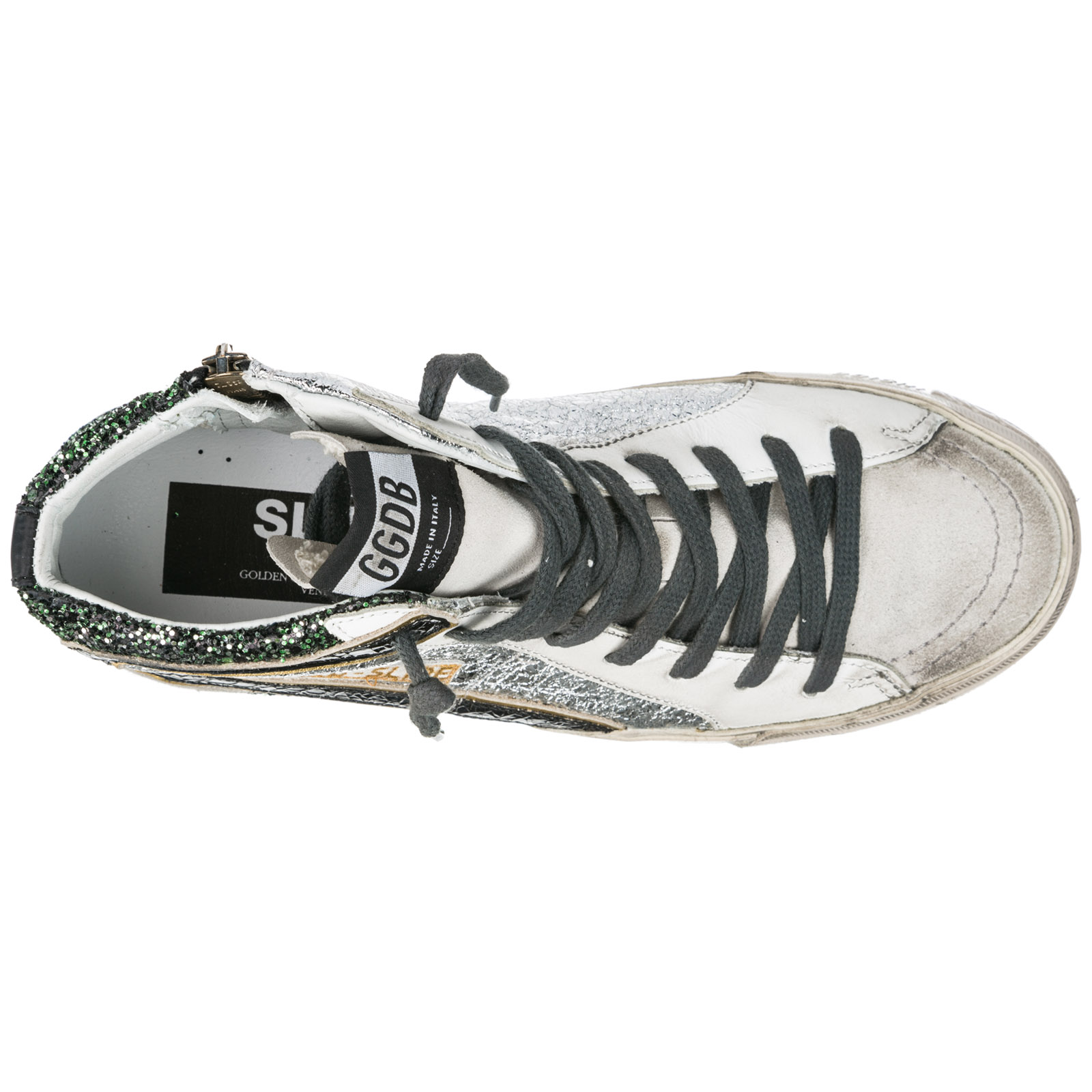 Women's shoes high top leather trainers sneakers slide