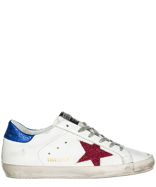 Sneakers Golden Goose Superstar G34WS590.M32 white - fuxia lurex star