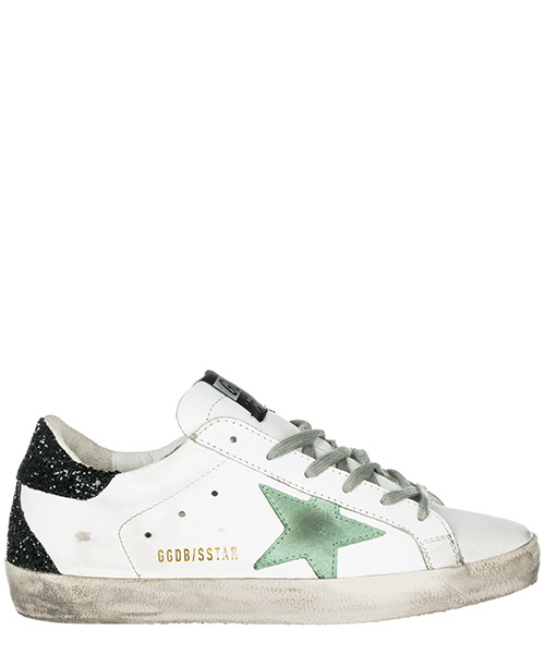 Turnschuhe Golden Goose Superstar G34WS590.M70 white leather - mint star