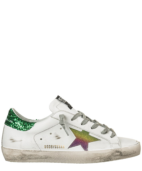Sneakers Golden Goose Superstar G34WS590.N81 white - green rainbow