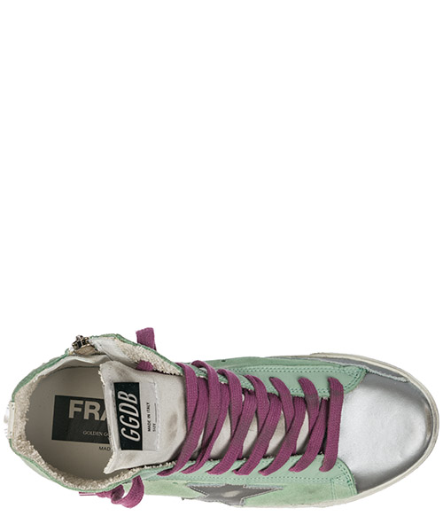 Damenschuhe damen wildleder schuhe high sneakers francy secondary image