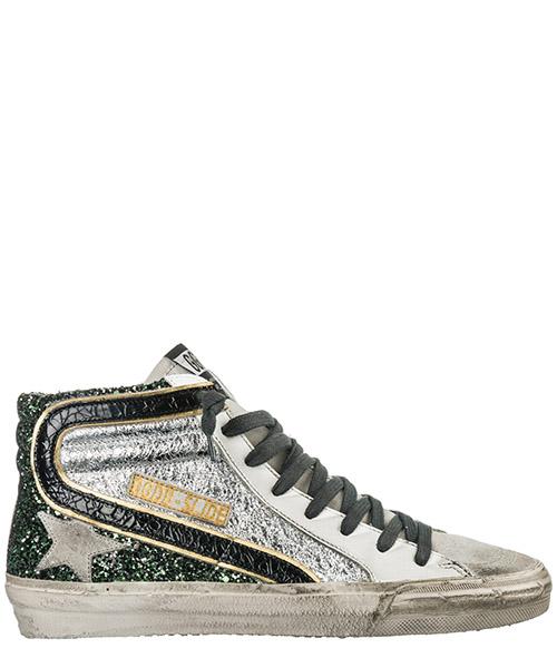 High top sneakers Golden Goose G34WS595.A13 half silver