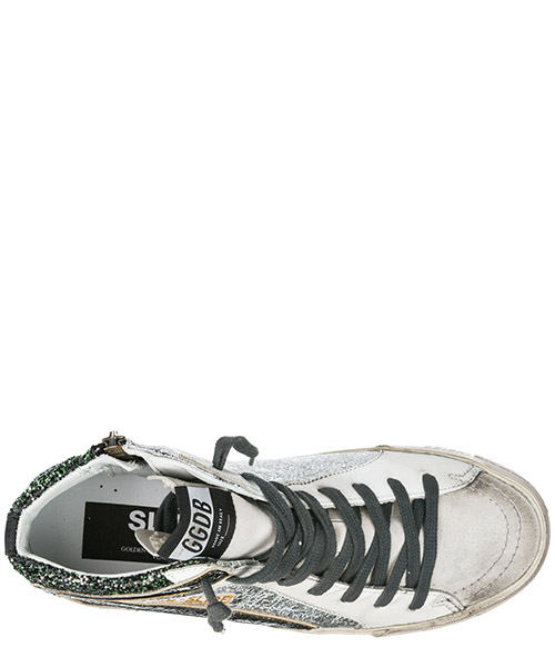Scarpe sneakers alte donna in pelle slide secondary image