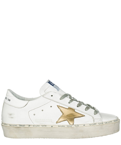 Кроссовки Golden Goose Hi Star G34WS945.A7 white - gold