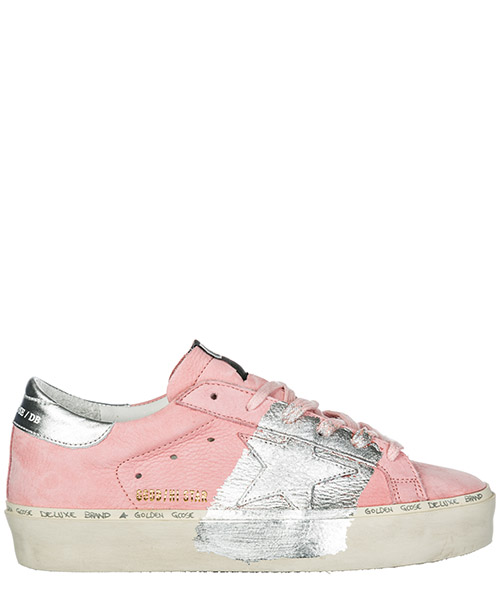 Sneakers Golden Goose Hi Star G34WS945.C4 powder nabuk - silver leaf